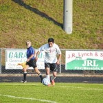 Cards explode for first soccer win