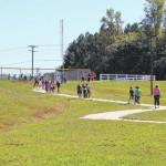 County pupils walk to school