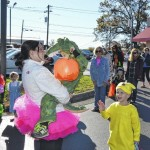Pilot students trick or treat