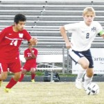 Bear soccer clinches share of first