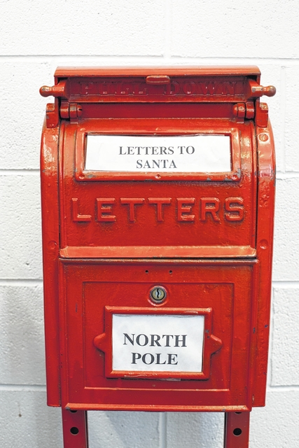 Mt airy news letters to santa claus mailed through dobson post michael rosenhauer dobson postmaster estimated that about 150 local children use the special mailbox located in the lobby for sending letters to santa spiritdancerdesigns Gallery