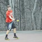 Eagle tennis sweeps Cardinals