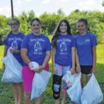 Surry Saddles clean up trash