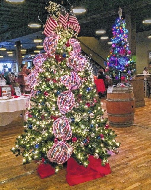 Patriotic Christmas Trees.Parade Of Trees Benefit Underway Mt Airy News