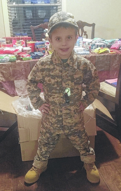 Boy's wish triggers gifts for troops