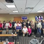 Local Trump enthusiasts gathered to celebrate the inaugural swearing-in of Donald Trump.