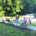 Students walk on last day of school