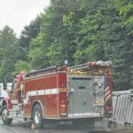 Rig overturns causing spill, other wrecks