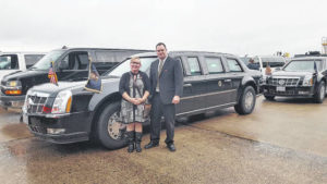 Surry residents drive in presidential motorcade