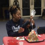 Students, parents build gingerbread houses