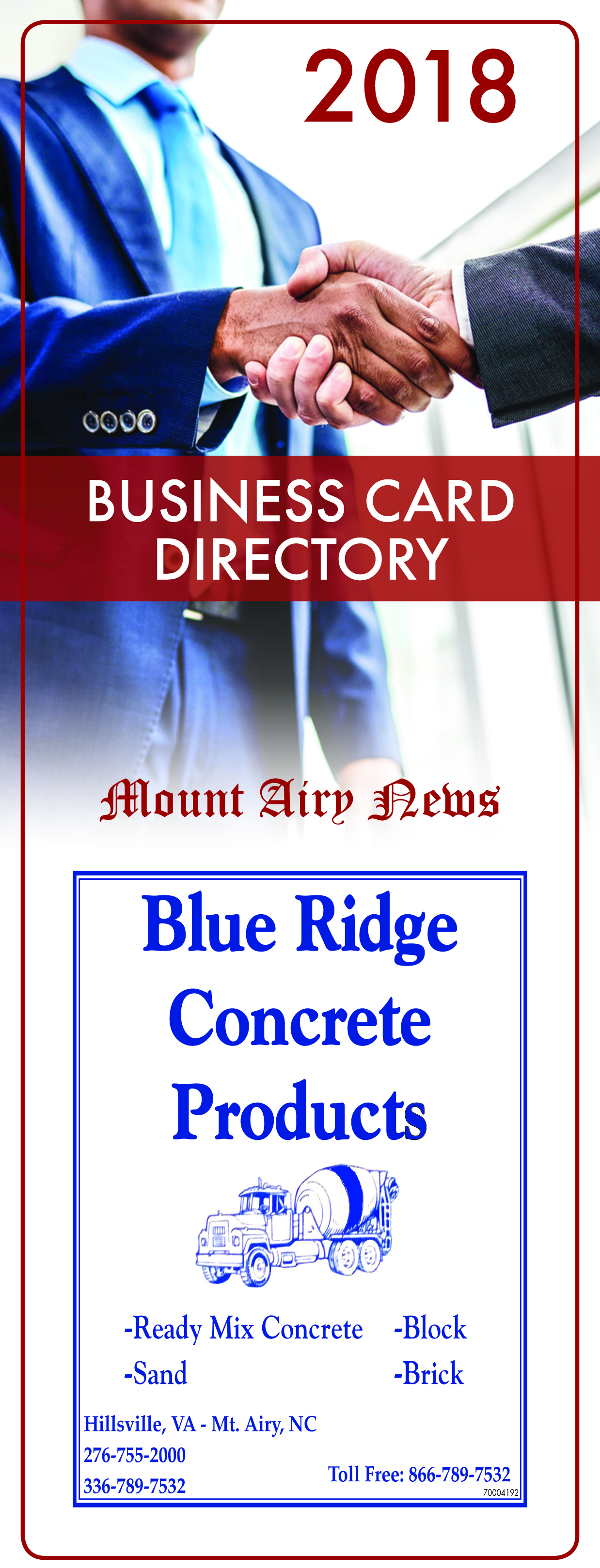 2018 MTA Business Card Directory