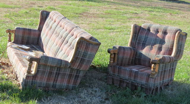 Unusual Items Not Normally Picked Up By Mount Airy Sanitation Crews, Such  As This Discarded Living Furniture Spotted Along Mountain View Road, ...