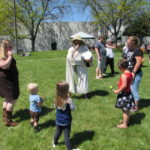 Fairy Tales come alive, on library lawn