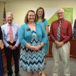 Board honors Folger-Hawks