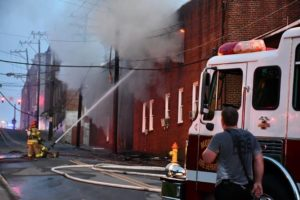 Blaze engulfs downtown factory