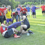Cards, Hounds compete in Lineman Challenge