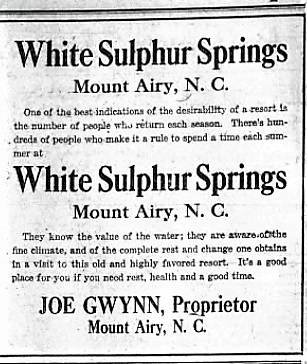 early tourist destination mt airy news