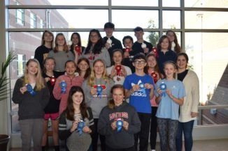 Pictured are Pilot Mountain Middle School Students who took part in the school's recent science fair.
