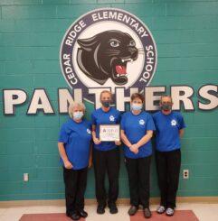 Cedar Ridge Elementary scores 100