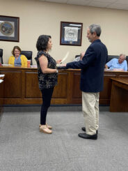 New commissioner takes seat in Dobson